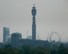 BT Tower from Primrose Hill (ffotografica) Tags: london eye tower point smog office post centre primrosehill bt