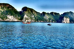 The quiet river cruise (Melvin Yue) Tags: street city travel colors 35mm asia vietnamese cityscape colours streetphotography unesco wanderlust traveller vietnam explore fujifilm lonelyplanet halongbay photooftheday picoftheday natgeo travelphotography travelgram x100s