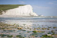 Seven Sister Cliffs, Sussex (Hayley Susan Murphy) Tags: sea white beach water chalk rocks pebbles cliffs pebblebeach algae sevensisters englishchannel sevensisterscountrypark sevensisterscliffs