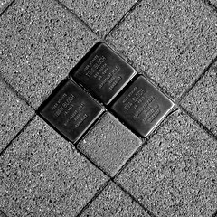 Stolpersteine (mkk707) Tags: nikond100 cosina voigtlnderultron40mmf2sliiasph sony icx413aq ccd blackwhite memorial art stolperstein mahnmal kunstwerk deutschland