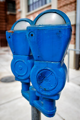 Blue Meters (Karol A Olson) Tags: blue paint maryland baltimore meter may16