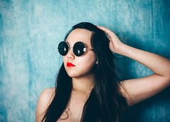 136/365 (Emily Moy Photography) Tags: new blue red summer portrait woman color college girl sunglasses fashion canon photography mood different style indoor portraiture lipstick 365 fashionshoot firstyear readyforsummer 365project emilymoyphotography emilymoy