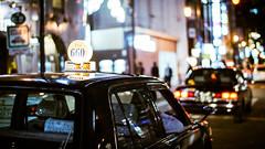 Dotonbori (Lefty Jordan) Tags: street light hk japan night hongkong dof traffic bokeh cab taxi sony osaka dotonbori lightroom voigtlandernoktonclassic3514sc nex6