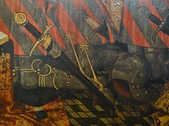 1445-1449 - 'family of Jean Jouvenel (Juvnal) des Ursins' ((circle of the) Master of the Munich Golden Legend?), Cathdrale Notre-Dame, Paris, Muse de Cluny, Paris, France (roelipilami) Tags: 1445 1449 family jean jouvenel des ursins juvenal cathedrale cathedral notre dame paris parijs parigi master munich golden legend maitre legende doree meister mnchner legenda aurea meester van gouden muse museo cluny museum armet sallet great bascinet surcoat surcotte tabard tabart votif votive panel painting armor armour rstung harnas prayer wrapper visor vizier gilded schaller salade rowel spurs spur sword epee schwert zwaard