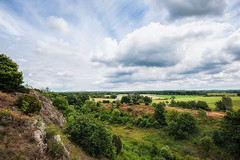 Billebjer (Appe Plan) Tags: old summer sky house lund nature colors clouds landscape countryside skne nikon colours view bright sweden south picturesque quarry appe billebjer d700