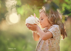 Kind Heart (Portraits by Suzy) Tags: california family las vegas trees light pets white color rabbit bunny green nature floral girl childhood animals canon fur san warm pretty photographer child natural bokeh candid diego orchard suzy workshop elena mead 6d 200mm shumilova portraitsbysuzy