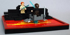Duel on mustafar (5) (adde51) Tags: star lava starwars lego duel obi anakin wars wan vignette legostarwars skywalker kenobi moc mustafar vig adde51