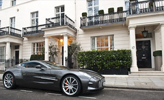 One77 - Like a Don. (Luke Alexander Gilbertson) Tags: london one nikon martin hedge londres limited mayfair 77 londra rare exclusive f28 supercar 73 aston v12 giotto belgravia 2470 hypercar d700 lukegilbertson wwwlgapcom