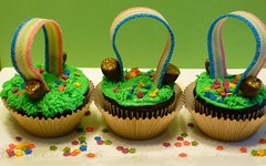 Pot of Gold at the End of the Rainbow Cupcakes (sweet simple stuff) Tags: cupcakes rainbow stpatricksday potofgold