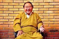 Sogyal Rinpoche laughing (Jurek Schreiner) Tags: teacher master kathmandu teachers sogyalrinpoche mastersteachers