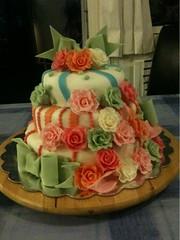 Weddingcake (Kageting.dk) Tags: flower cake weddingcake modelling kage fondant fdselsdagskage bryllupskage gumpasteflower sugarmodelling