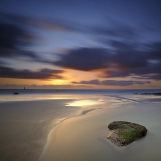 Coucher de soleil sur la plage de la Paracou #1 [ Les Sables d'Olonne ~ Vendée ~ France ]