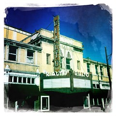 Rialto Theatre (Route 66) (TooMuchFire) Tags: vintage neon rialtotheatre signage johns neonsigns mobilephonephotos marquees iphone southpasadena movietheaters vintageneonsigns cellphonephotos theatremarquees cellsnaps mobilesnaps iphone4 theatermarquees oldneonsigns dreamcanvas johnslens iphoneography movietheatremarquees iphoneographie hipstamatic hipstamaticapp iphonografia toomuchfire ifonografia salvadordreamcanvas