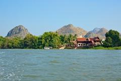 On the river Kwae, Kanchanaburi, Thailand (UweBKK ( 77 on )) Tags: river landscape thailand asia sony southeast alpha dslr kanchanaburi 550 kwai kwae thegalaxy