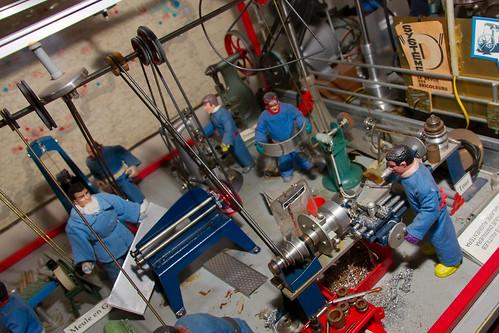 Diorama d'usine à l'ancienne