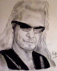 "The Bounty Hunter:  Duane ""Dog"" Chapman portrait (fitzjim) Tags: show family wedding portrait sun beach muscles closeup hair mexico hawaii glasses book us tv friend colorado artist drawing surveillance prayer daughter longhair rollerderby books prison cnn jail drugs wife wanted honolulu busted tough ae bail thebigisland arrested warrant prays undercover bombers bailbonds sons duane chapman denvercolorado bountyhunter nationalenquirer realityshow pepperspray coloradospringscolorado dogthebountyhunter duanedogchapman larrykinglive youcanrunbutyoucanthide timchapman jimfitzpatrick dakinebailbonds takethisjob lelandchapman bethsmithchapman justinbihag duaneleechapmanii lyssachapman moonbihag extraditiontomexico wheremercyisshownmercyisgiven"