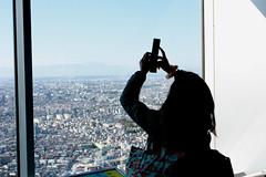 shooting fuji san from 45th floor (mrlenours) Tags: mountain girl japan montagne tokyo san shinjuku fuji mountfuji  fujisan   fille mont japon      montfuji