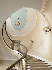 "Curved Stairway with Ceiling Detail • <a style=""font-size:0.8em;"" href=""http://www.flickr.com/photos/75603962@N08/6853313553/"" target=""_blank"">View on Flickr</a>"