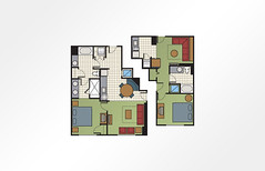 Bluegreen Club 36™ 2-Bedroom Combined - 1,190 sq ft