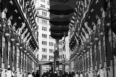 Madrid reflections 1 (Esther Molin) Tags: madrid blackandwhite reflection glass monochrome mirror spain farola streetlamp busstop reflejo plazadesevilla