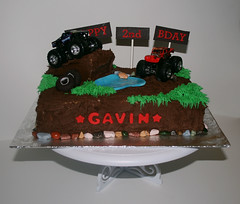 MONSTER TRUCK CAKE (cakewalkdesserts) Tags: cake monstertruck