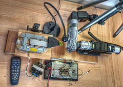 Automated Macro Stacking Setup 02.2012 (Terapixel) Tags: macro diy explore homemade setup electronic makro selfmade hdr selbstgemacht eigenbau elektronik aufbau macrorail diypfav makroschlitten
