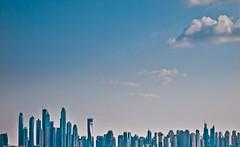 Dubai skyline (miemo) Tags: city travel sea sky urban skyline buildings dubai skyscrapers uae middleeast olympus arabia unitedarabemirates dubaimarina ep1 explored palmjumeira