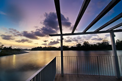 Singapore Sunset at Punggol Waterway (Wang Guowen (gw.wang)) Tags: park nikon singapore punggol bluehour yabbadabbadoo digitalblending flickraward platinumheartaward d7000 tokinaaf1116mmf28 tokinaatx116f28 blinkagain punggolwaterfront punggolwaterway gwwang wwwon9cloudcom