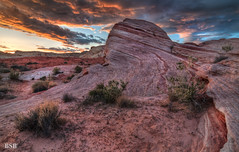 Valley of Fire Sunset (Bjrn Burton) Tags: statepark sunset valleyoffire landscape nevada firewave d300s tokina1116mm28 bjornburton