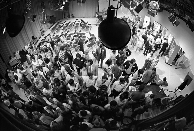 LOTTERY WINNERS drawing at TV studio, Boston TV studio