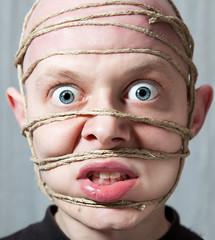 Bondage (Gianluca Perin) Tags: portrait face self bondage rope