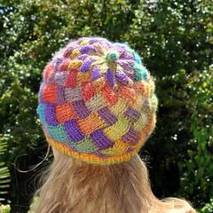 Entrelac hat (Kiwi Little Things) Tags: hat knitting pattern entrelac