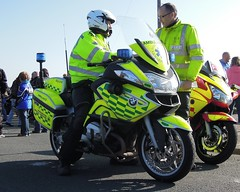 Mobile 1st response Paramedic's (sab89) Tags: traffic police bikes ambulance motorbike bmw service section escort merseyside wirraleggbike2012 officerswomen