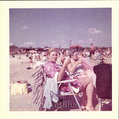 Down The Shore (mizaliza) Tags: beach sunshine women shore etsy bathers photovintage photoantique etsydelphiniumsbluedelphiniumsbluefound beachchairnostalgia