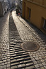 The narrow streets of Bergen (harald.bohn) Tags: winter vinter smug bergen manholecover kumlokk pavingstones brostein narrowalleys