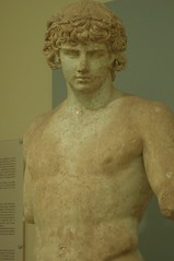 STATUE OF ANTINOOUS-MUSEUM OF DELPHOI-GREECE (A TEAR FOR YOU GREECE) Tags: classic statue museum greek delphi artifact antiquity delphoi scalpture antinoous