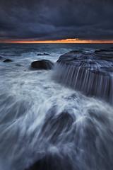 Washing Machine (Xenedis) Tags: cascade clouds flow ocean rocks seascape sunrise water waves whalebeach newsouthwales nsw australia northernbeaches fh ig