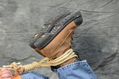DSC_0168 (jakewolf21) Tags: work boots bondage rope jeans tied dakota hogtied