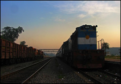 58132 Puri - Raurkela Passenger (Ankit Bharaj) Tags: sky horse india train canon photography evening is high power diesel dusk indian engine twin rail locomotive 100 passenger railways ankit sx alco railfanning orrisa irfca bharaj sambalpur mued wdg3a jharsuguda wdm3d bndm boundamunda rengali
