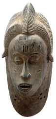 10Y_0917 (Kachile) Tags: art mask african tribal côtedivoire primitive ivorycoast gouro baoulé nativebaoulémasksaremainlyanthropomorphicmeaningtheydepicthumanfacestypicallytheyarenarrowandfemininelookingincomparisontomasksofotherethnicitiesoftenfeaturenohairatallbaouléfacemasksaremostlyadornedwithvarioustrad