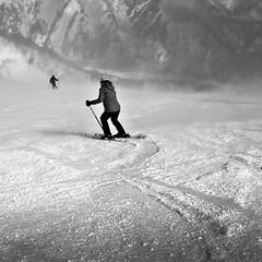 Ski. (c_c_clason) Tags: blackandwhite snow ski japan skiing sigma schwarzweiss hakuba dp2
