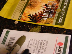 "frog in seed tray • <a style=""font-size:0.8em;"" href=""http://www.flickr.com/photos/75400798@N04/6933629005/"" target=""_blank"">View on Flickr</a>"