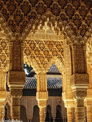 h5Alhambra Palace 22   / Granada / Spain - 27.03.2012 (Ahmed Al.Badawy) Tags: granadaspain  hutectshotsahmedalbadawyislamicarchitectureandalusia h5alhambrapalace