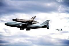 Discovery goes to Washington (Spamily) Tags: sky topv111 plane dc washington dulles topv555 topv333 space jet nasa shuttle topv777 905 discovery spaceshuttle piggyback 747 2012 t38 xeswx ov103 bucketlist
