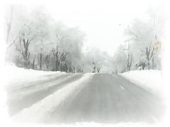 Spring snow boulevard.