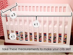 How to Sew a No-Fail Crib Skirt (It's Great To Be Home) Tags: diy nursery cribskirt easysew