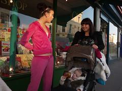 Kentish Town Road (Gary Kinsman) Tags: pink baby london shot candid streetphotography streetlife hip pram 2012 kentishtown nw5 kentishtownroad lumixg14mmf25 panasoniclumixgf3