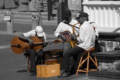 ... (Monika Smuga) Tags: africa street city people music man town south band nikond70s western cape peninsula selectivecoloring