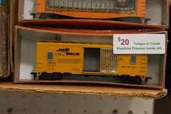 JBOX (This Car Excess Height) Tags: railroad scale model funny humor railcar boxcar ho railbox jailbox