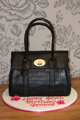 Mulberry Handbag Cake 3 (Kingfisher Cakes) Tags: black leather cake carved 3d shaped handbag printed bayswater mulberry noveltycake kingfishercakes